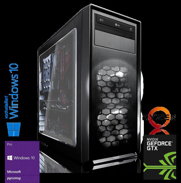 XDREAM GAMING PC AMD Ryzen 7 1700 8x3GHz | 16GB DDR4 | GTX 1080 Ti | 240GB SSD+ 1TB HDD | Win 10 Pro