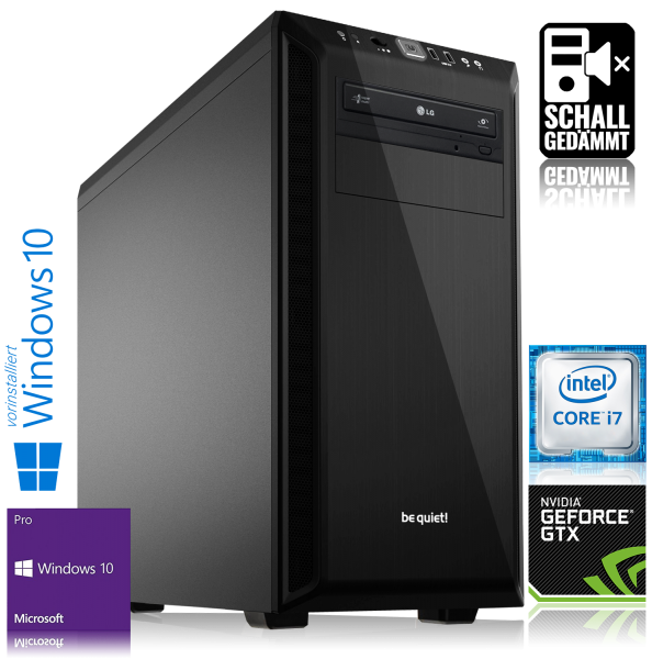 GAMING PC INTEL i7-7700 4x3.60GHz | 16GB DDR4 | GTX 1060 | 240GB SSD + 1TB HDD | Win 10 Pro