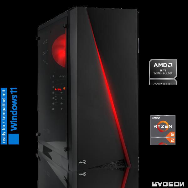 GAMING PC AMD Ryzen 5 3600 6x3.60GHz | 16GB DDR4 | RX 6700 XT | 256GB SSD + ASUS Maus + Mauspad