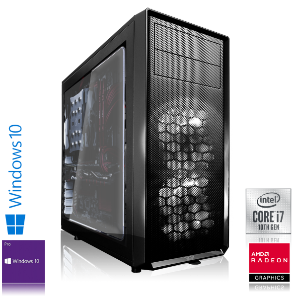 GAMING PC INTEL i7-10700K 8x3.80GHz | 16GB DDR4 | AMD RX 580 | 240GB SSD + 2TB HDD | Win 10 Pro