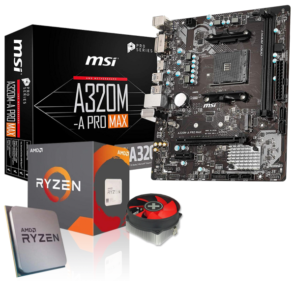 Aufrüst-Kit: ASUS PRIME A320M-K - AMD Ryzen 3 3200G 4x 3.6 GHz - 0 GB DDR4 - AMD Vega 11