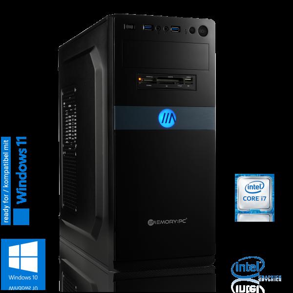 OFFICE PC INTEL i7-9700K 8x3.60GHz | 16GB DDR4 | UHD 630 | 240GB SSD + 2TB HDD | Win 10 Home