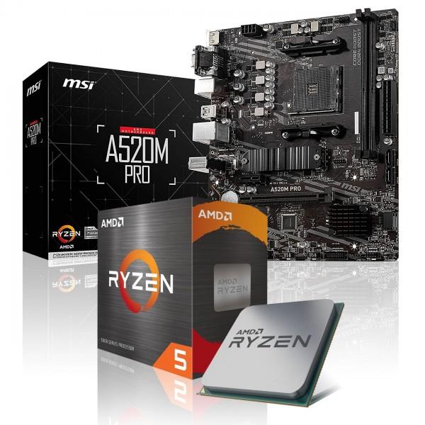 Aufrüst-Kit: MSI A520M-A Pro - AMD Ryzen 5 5600X 6x 3.7 GHz
