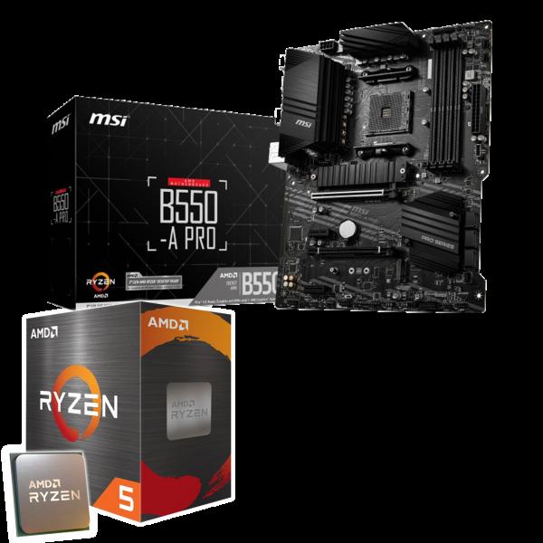 Aufrüst-Kit: MSI B550-A Pro - AMD Ryzen 5 5600X 6x 3.7 GHz