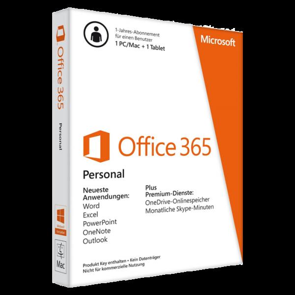 Microsoft Office Personal 365 Tage Office, PKC (deutsch)