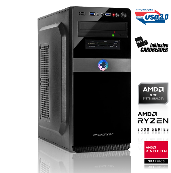 GAMING PC AMD Ryzen 3 3200G 4x3.60GHz | 8GB DDR4 | RX 570 8GB | 240GB SSD