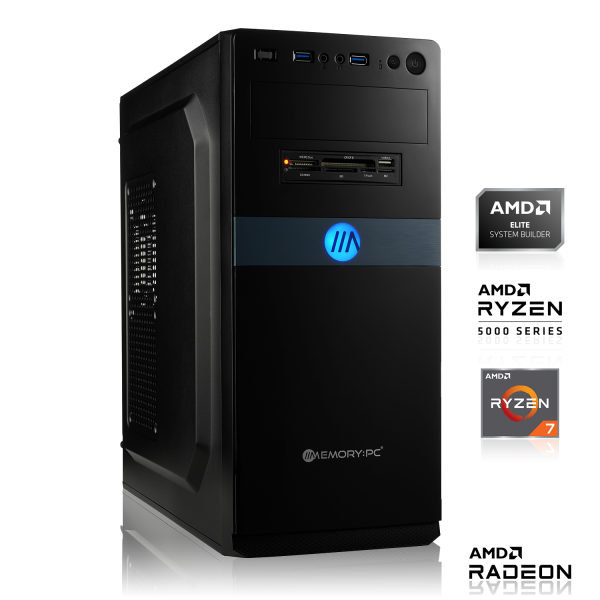 GAMING PC AMD Ryzen 7 4750G 8x3.60GHz | 8GB DDR4 | Radeon Graphics | 120GB + 1000GB HDD