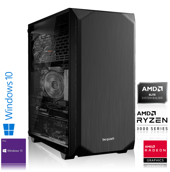 HIGH END PC AMD Ryzen 5 3600X 6 x 3.8 GHz | 16GB DDR4 | AMD RX 5700 XT | 240GB SSD +1TB | Win 10 Pro