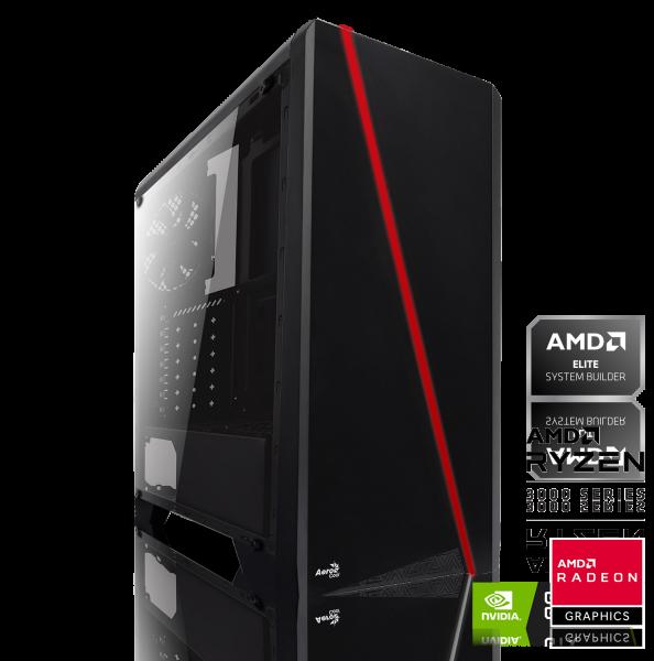 GAMING PC AMD Ryzen 5 2600 6x 3.40GHz | 16GB DDR4 | GTX 1660 SUPER | 120GB SSD + 1000GB HDD |