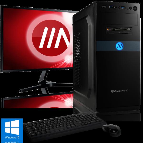 OFFICE KOMPLETT PC | AMD A10-9700 4x 3.80GHz | 8GB DDR4 | Radeon R7 | 120GB SSD+1000GB HDD | Win 10 Home