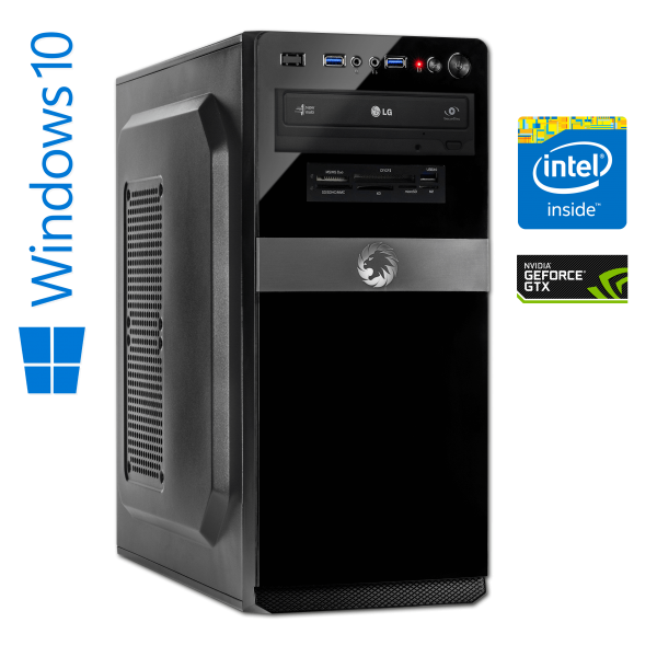 High End Gaming Computer Intel Core i7-8700 SixCore, 16 GB DDR4 RAM, 240 GB SSD + 1 TB HDD, NVIDIA G