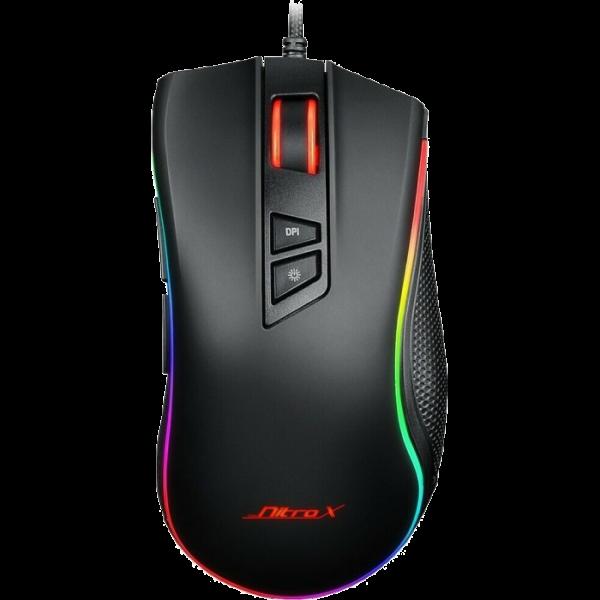 Inter-Tech Nitrox GT-300+ RGB Gaming-Maus 4000dpi