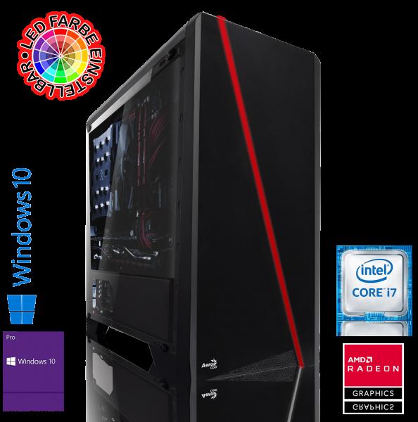 GAMING PC INTEL i7-9700 8x3.00GHz | 16GB DDR4 | RX 580 | 240GB SSD + 1TB HDD | Win 10 Pro