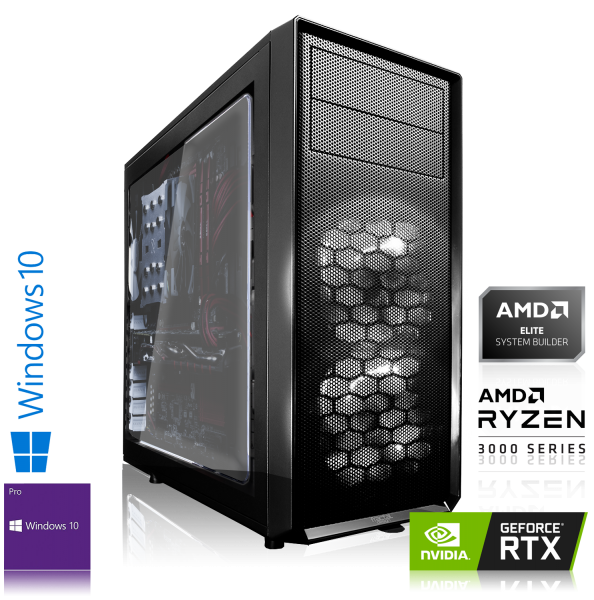 GAMING PC AMD Ryzen 5 3600X 6x3.60GHz | 16GB DDR4 | RTX 2060 | 240GB SSD + 2TB HDD | Win 10 Pro