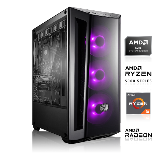 GAMING PC AMD Ryzen 5 3500X, 6x 3.60GHz | 8GB DDR4 | GTX 1650 SUPER | 240GB SSD + 1000GB HDD |