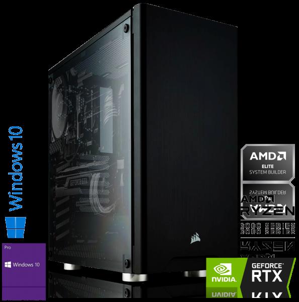 HIGH END PC AMD Ryzen 7 3800X 8x3.90GHz | 16GB DDR4 | RTX 2060 | 240GB SSD + 1TB | Win 10 Pro