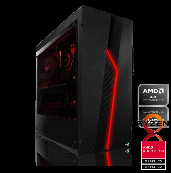 GAMING PC AMD Ryzen 7 2700X 8x3.70GHz | 16GB DDR4 | AMD RX 590 | 240GB SSD + 1TB HDD | Win 10 Pro