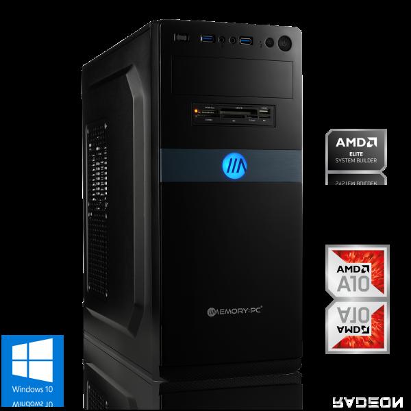 OFFICE PC AMD A10-9700 4x3.80GHz   16GB DDR4   Radeon R7   240GB SSD + 2TB HDD   Win 10 Home