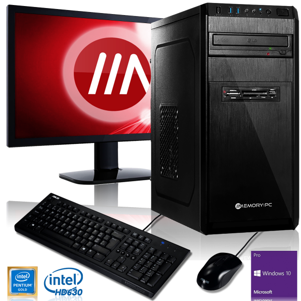 OFFICE KOMPLETT PC   Intel G5400   8GB DDR4   120 GB SSD + 1000GB HDD   Win 10 Pro