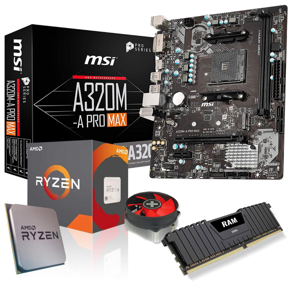 Aufrüst-Kit: ASUS PRIME A320M-K - AMD Ryzen 5 3600 6x 3.6 GHz - 16 GB DDR4