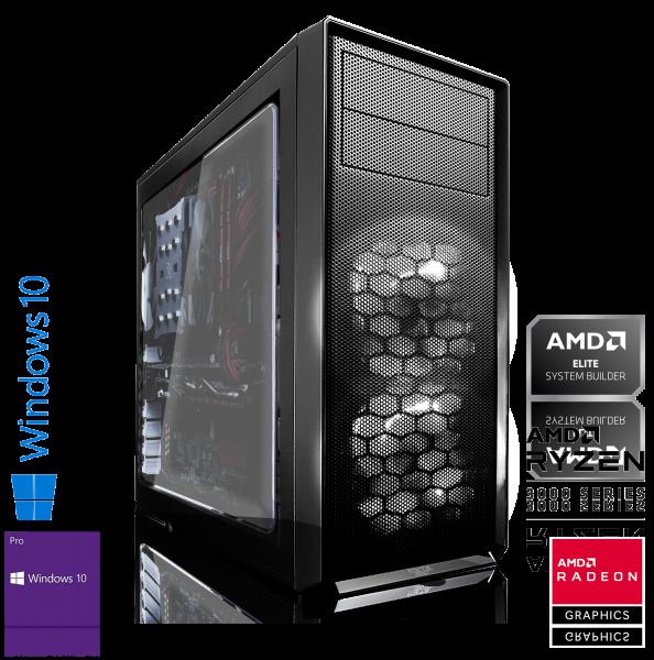 GAMING PC AMD Ryzen 5 3600 6x3.60GHz   16GB DDR4   RX 580   1000GB HDD   Win 10 Pro