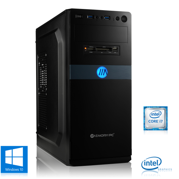 OFFICE PC INTEL i7-9700K 8x3.60GHz | 16GB DDR4 | UHD 630 | 480GB SSD + 2TB HDD | Win 10 Home