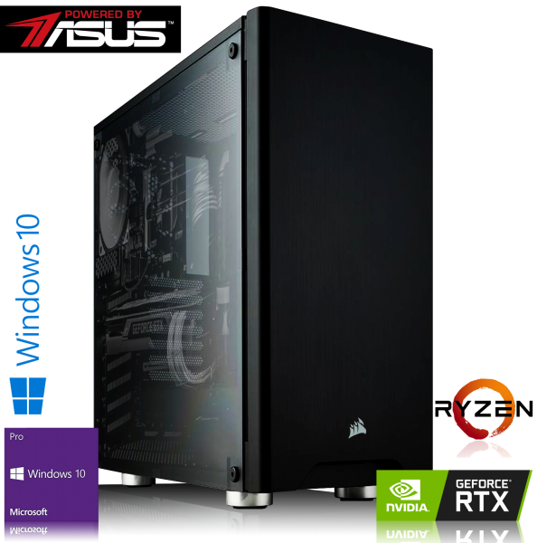 Gaming PC PBA Ryzen 7 2700X 8x3.70GHz | 16GB DDR4 | RTX 2070 | 240GB SSD + 1TB | Win 10 Pro