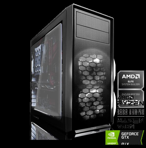 GAMING PC AMD Ryzen 5 3600X 6x3.80GHz | 16GB DDR4 | GTX 1660 SUPER | 240GB SSD + 2TB HDD