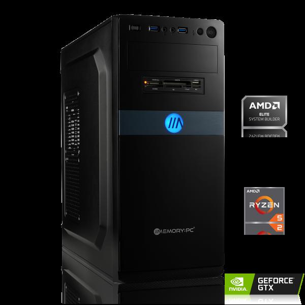 GAMING PC AMD Ryzen 5 3500X, 6x 3.60GHz | 8GB DDR4 | GTX 1050 Ti 4GB | 240GB SSD