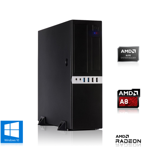 MINI PC AMD A8-9600 4x 3.10GHz   4GB DDR4   Radeon R7   120GB SSD   Win 10 Home