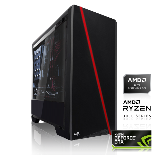 GAMING PC AMD Ryzen 5 3600X 6x3.80GHz | 16GB DDR4 | GTX 1650 SUPER 4GB | 240GB SSD HDD