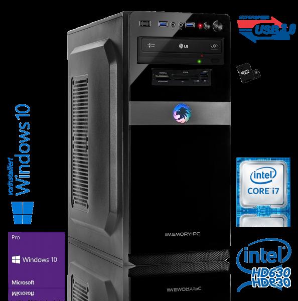 Intel PC Core i7-8700 8. Generation (HexaCore) Coffee Lake 6x 3.2 GHz, ASUS, 16 GB DDR4, 480 GB SSD