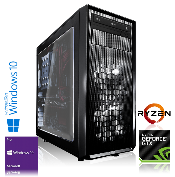 XDREAM GAMING PC AMD Ryzen 7 1700X 8x3.4GHz | 16GB | GTX 1080 Ti | 240GB SSD + 1TB HDD | Win 10 Pro