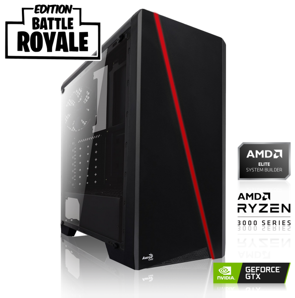 GAMING PC GeForce Battle Royal Edition | AMD Ryzen 5 3600 | 16GB DDR4 | GTX 1660 SUPER | 240 GB SSD + 1TB HDD |