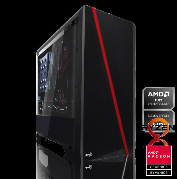 GAMING PC AMD Ryzen 5 2600 6x3.40GHz | 8GB DDR4 | AMD RX 580 | 240 GB SSD