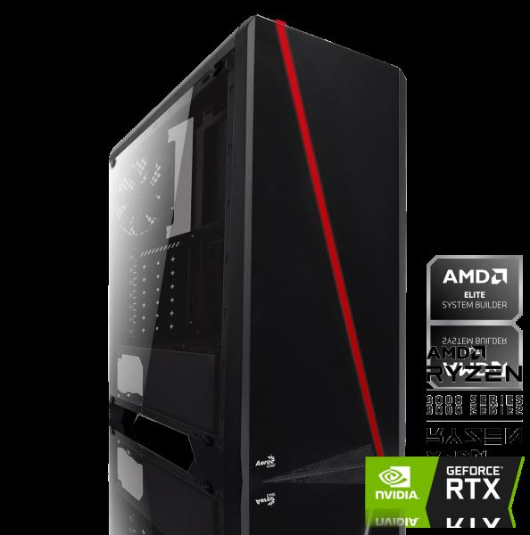 GAMING PC AMD Ryzen 5 3600XT 6x3.80GHz | 16GB DDR4 | RTX 2060 | 250GB SSD M.2 + 1000GB HDD