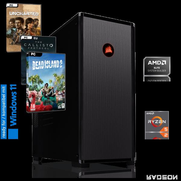 HIGH END PC AMD Ryzen 5 3600 6x3.60GHz | 16GB DDR4 | AMD RX 5700 XT | 240GB SSD +1TB | Win 10 Pro