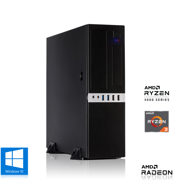 OFFICE PC AMD Ryzen 5 PRO 3350GE 4x3.30GHz | 8GB DDR4 | Radeon Graphics | 120GB SSD | Win 10 Home