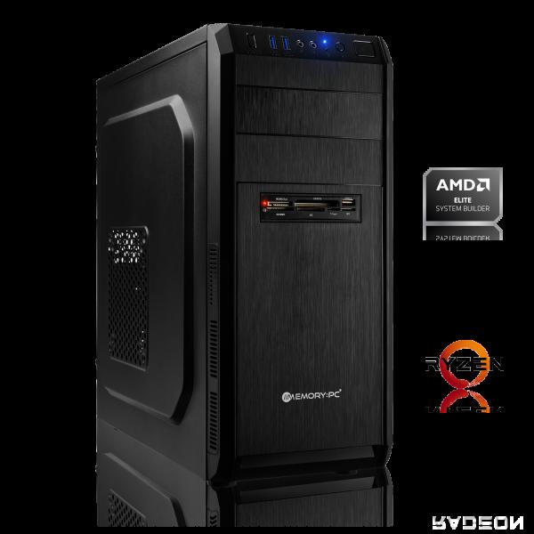 OFFICE PC AMD Ryzen 3 2200G 4x 3.50GHz | 8GB DDR4 2666 MHz | Radeon Vega 8 | 120 GB HDD