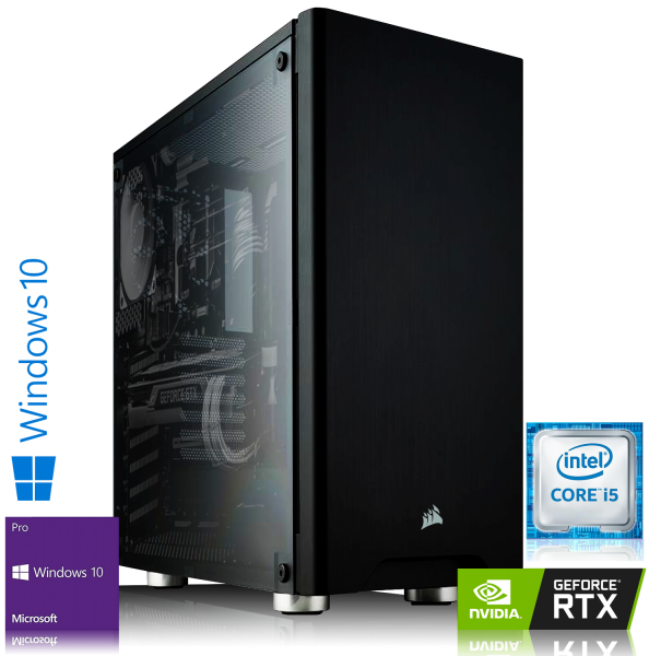 GAMING PC INTEL i5-9400F, 6x2.90GHz | 8GB DDR4 | RTX 2060 6GB | 240GB SSD + 1TB HDD | Win 10 Pro