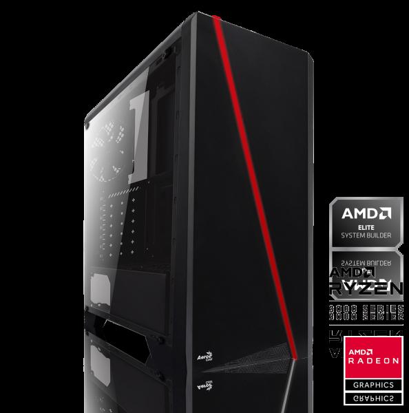 GAMING PC AMD Ryzen 3 3100 4x3.60GHz | 16GB DDR4 | AMD RX 570 | 240GB SSD