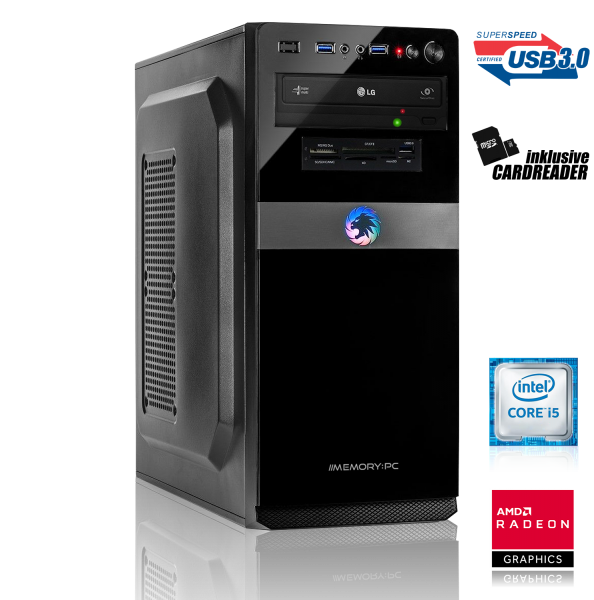 GAMING PC INTEL i5-9400F 6x2.90GHz | 16GB DDR4 | AMD RX 580 | 240GB SSD + 1TB HDD
