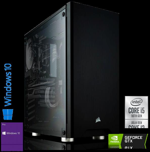 GAMING PC INTEL i5-10400F, 6x2.90GHz   16GB DDR4   GTX 1650 SUPER   120GB SSD + 1TB HDD   Win 10 Pro