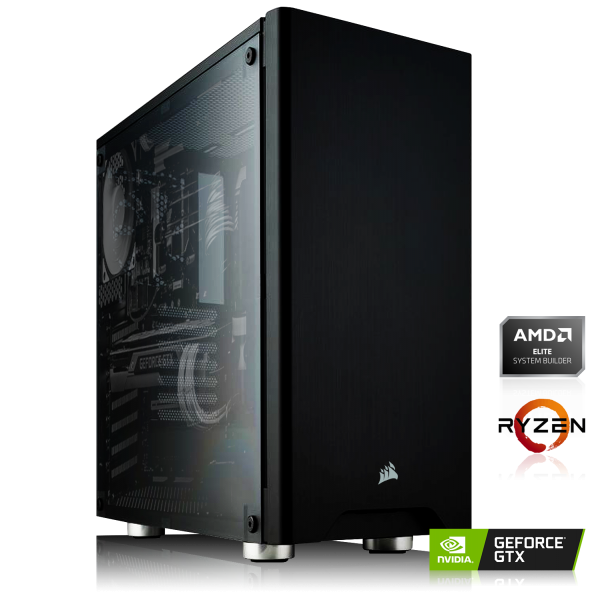 GAMING PC AMD Ryzen 5 3600X 6x3.60GHz | 16GB DDR4 | GTX 1650 | 240GB SSD + 2TB HDD
