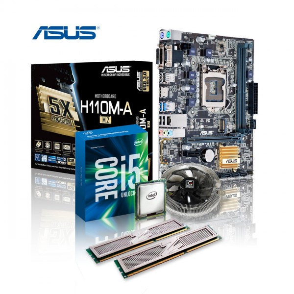 Aufrüst-Kit: ASUS H110M-A/M.2 - Intel Core i5-7500, 4x 3.40GHz - 8 GB DDR4 - Intel UHD 630