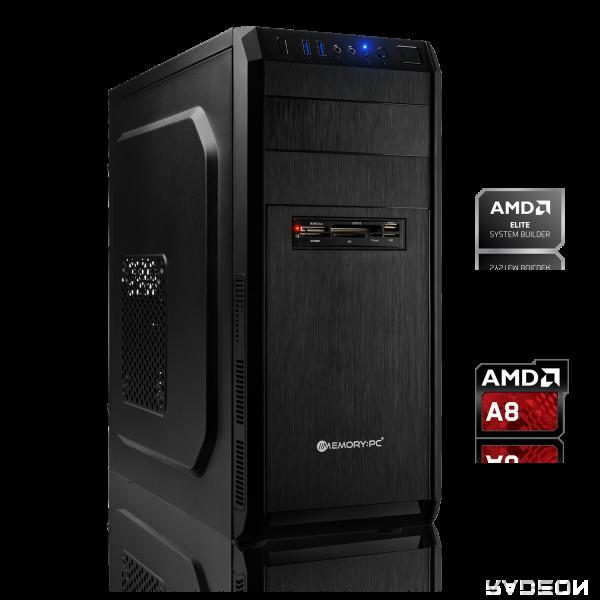 OFFICE PC AMD A8-9600 4x3.10GHz | 8GB DDR4 | Radeon R7 | 240 GB SSD