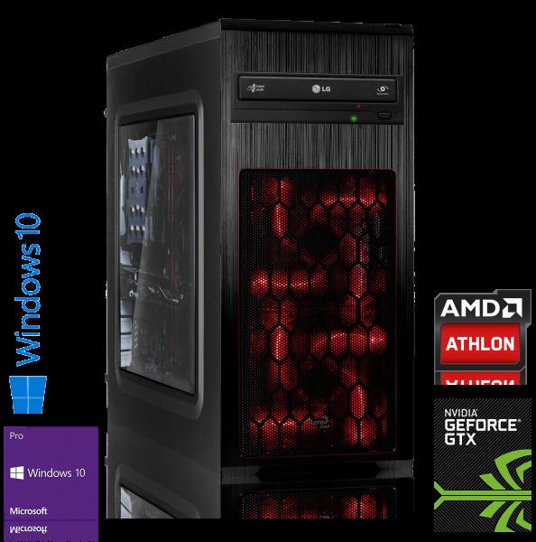 GAMING PC AMD X4 950 4x3.50GHz | 8GB DDR4 | GTX 1050 Ti | 1000GB HDD | Win 10 Pro