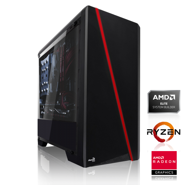 GAMING PC AMD Ryzen 5 2600 6x3.40GHz | 8GB DDR4 | RX 590 8GB | 240GB SSD