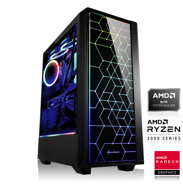 GAMING PC AMD Ryzen 5 3600 6x3.60GHz | 16GB DDR4 | RX 5600 XT 6GB - 14Gbps | 480GB SSD