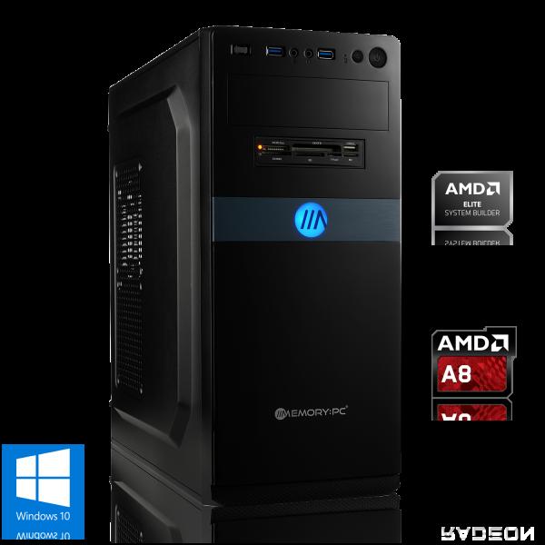 OFFICE PC AMD A8-9600  8GB DDR4   Radeon R7   240GB + 1000GB HDD   Win 10 Home
